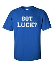 Make Your Own T Shirt Crew Neck Men Short-Sleeve Fashion 2016 Got Luck? Andrew Luck Tee Shirts(China)