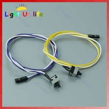 PC Computer Desktop ATX Power On Supply Reset Cable Cord Switch Connector -FoZ(China)
