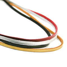 New Hot colors U-pick 100CM 3mm Flat Faux Suede Korean Velvet Leather Cord string Rope Thread Lace Jewelry Findings FXU004-01(China)