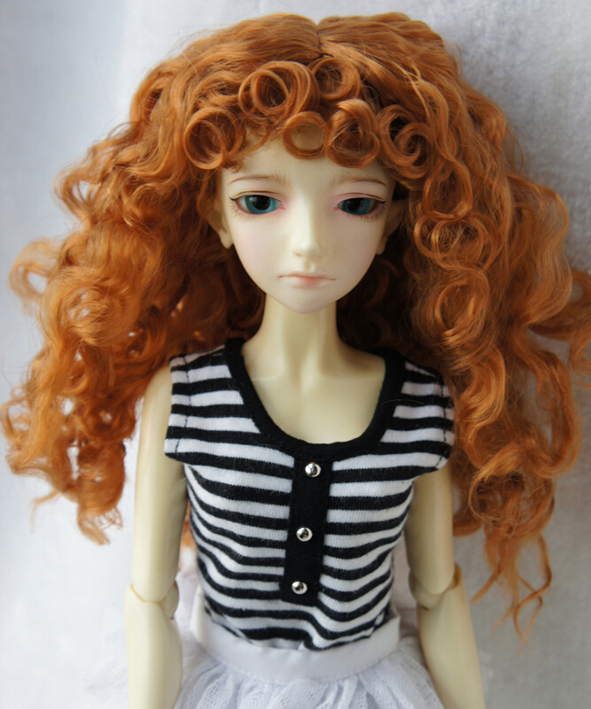 childs gift Ceramics, BJD doll wigs imitation mohair curly  Holiday gifts  WIG<br><br>Aliexpress