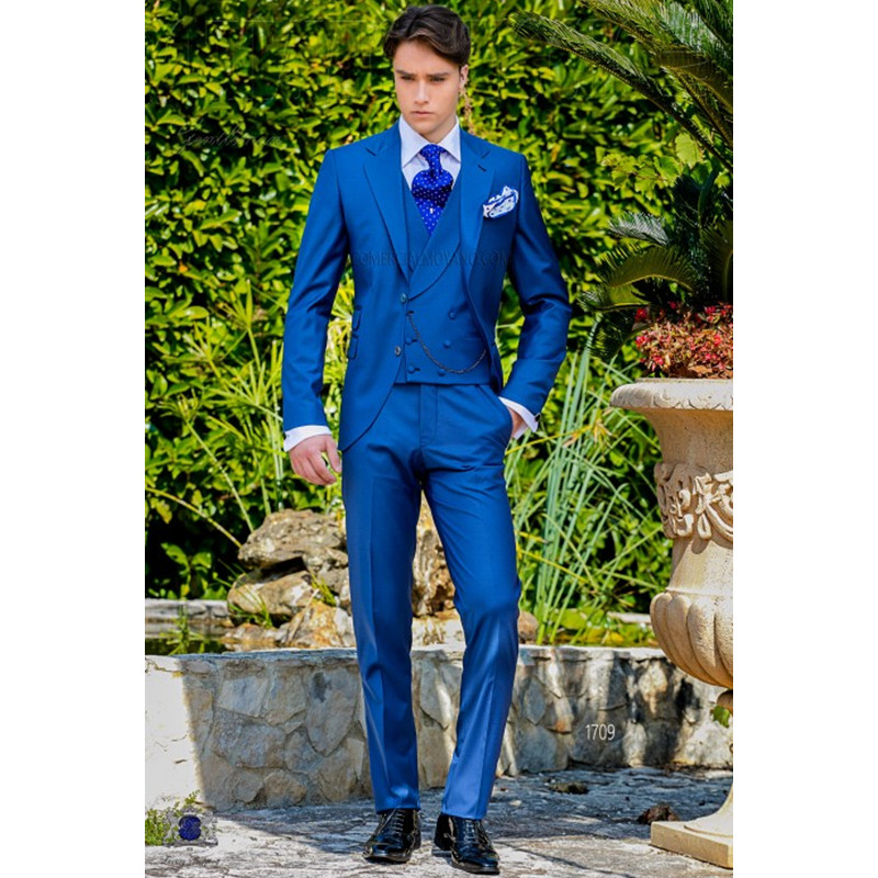 16.1 Latest Coat Pant Designs Royal Italian Men Suit Classic Gentle Tuxedo Prom Blazer Custom 3 Piece Jacket (jacket+pants+vest)