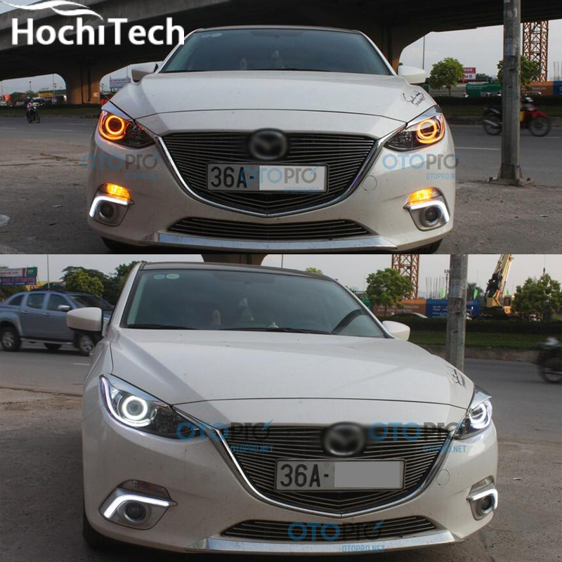 for mazda 3 RGB LED headlight halo angel eyes kit car styling accessories 2010 2011 2012 2013 2014<br>