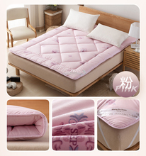 1.5M pink Home Textile Mattress thick cotton mattess bed cushion bed pad keep warm two side winner mat 2015 n Free shipping(China)