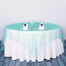 5pcs Wedding Table Cloth Organza Fabric Banquet Tablecloths Square Wedding Table Cover Party christmas Decoration Home Textile(China)