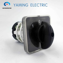 Manufacturer 3 position rotary switch 20a 2 phase electrical changeover cam rotary switch selector main switch(China)