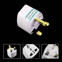 HOT SALE! 1pc Universal Travel Adapter US AU EU to UK Plug Travel Wall AC Power Adapter 250V 10A Socket Converter White C1