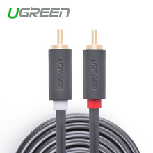 Ugreen 2RCA to 2 RCA Male to Male AV Cable Gold-Plated RCA Audio Cable 2m 3m 5m for Home Theater DVD TV Amplifer