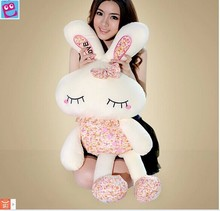 stuffed animal large 110 cm love rabbit plush toy Floral love rabbit doll throw pillow gift w3685(China)