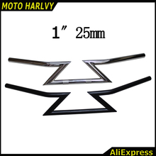 "Sale 1"" 25MM Motocross Motorcycle Universal Drag Handlebars Z Bars For Harley Cruiser Custom Touring for CHOPPER BOBBER Grips"