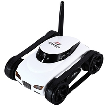 RC Car 777-270 ISPY Series WIFI Mini RC Camera Tank 0.3MP HD Camera Remote Control Robot Toys for IOS System Devices with Light
