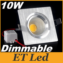 Dimmable 10W Led Downlight Fixture Lights COB Led Down Lights Recessed Light CRI>80 AC 110-240V Nature White CE ROHS UL CUL SAA(China)