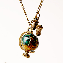 New Fashion Hot Sale Globe Pendant Necklaces Telescope Women Jewelry Chain Necklace Earth Ball Gifts for Women Jewelry N268