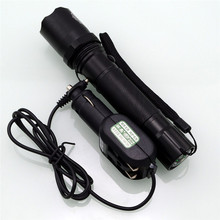 Best Price Flashlight Charger Dual power flashlight car charger + direct charge(China)