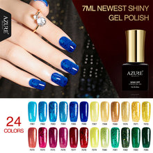AZURE BEAUTY Gel Nail Polish Blue Color Nail Gel Manicure Extension Gel Polish 7ml Soak Off Azure Nail Gel Varnish Cheap Price