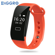 Diggro K18S Heart Rate Smart Bracelet Sport Bluetooth 4.0 IP65 Waterproof Fitness Tracker Pedometer Call Reminder Wristband(China)