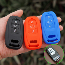 silicone key fob cover case shell protect for Audi B6 B7 B8 A4 A5 A6 A7 A8 Q5 Q7 R8 TT S5 S6 S7 S8 SQ5 RS5 smart keyless entry