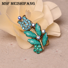 Classsic Bronze Plating Flower Small Hair Clip Hair Jewelry Women Antique Mini Hair Accessories