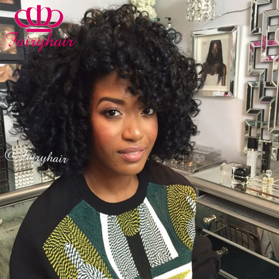 New Stylish Sexsy Curly Short Black Synthetic No Lace Wig Short Hairstyle Wigs Afro Curly African American None Lace Black Wigs<br><br>Aliexpress