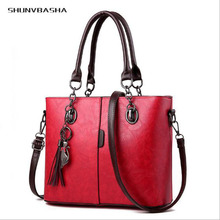 Shunvbasha 2018 New Women Shoulder Bags Female Attractive Crossbody Bags Burgundy Casual Tote Bag Bolsa Pu Leather Handbags(China)