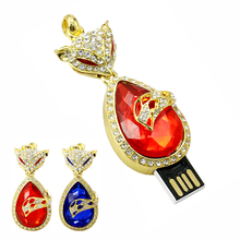 Fashion Usb Flash Drive Crystal Diamond fox Pen Drive 8G Pendrive 16GB 32GB 64GB Memory USB stick Flash Drive Free shipping gift