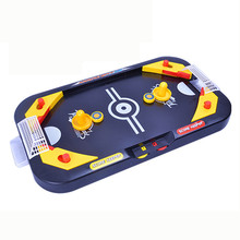 1 pcs oyuncak mini billiards table gadget anti stress Miniature Hockey Table Game Toy For Children 2 In 1 Soccer & Ice Desktop(China)