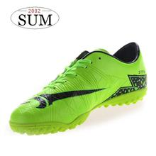 Good quality men football training shoes soccer cleats AG/FT outdoor lawn kid's soccer shoes male,EUR 34-44