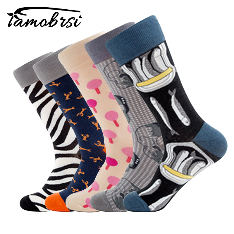 New Hot-sell Socks Men Funny Autumn-winter Colorful Brand Cotton Socks Mens And Womens Fashion Skateboard Black White Socks Modern Design Underwear & Sleepwears