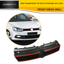 Car Styling ABS Front Bumper Mesh Grille Grills For Volkswagen VW Polo standard 2011-2014