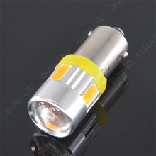 2PCS High Quality BA9S 434 T4W LED 6 5630 SMD H6W Car Auto 5730 DC 12V Interior Lighting Reading Lights Dome Lamp Wholesale