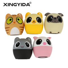 XINGYIDA Mini Cartoon Bluetooth Speaker Wireless Stereo Music Outdoor parlantes caixa de som Support Phone Self Timer Handsfree(China)