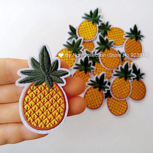 1Pcs Fruit Pineapple Embroidered Patch Iron on Sew Applique Cute Cartoon Patch Fabric Clothes Shoes Bags DIY Decoration Patches