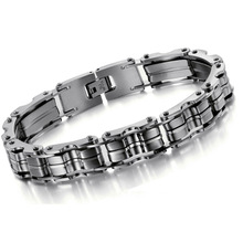 Heavy Cool Jewelry Titanium Stainless Steel Men Motorcycle Bike Chain Male Bangle Bracelet C509 KQS