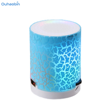Ouhaobin Portable Mini Wireless Speaker LED Night Light Speakers Support TF Card Mp3 Popular Colorful Wireless Speaker AU29