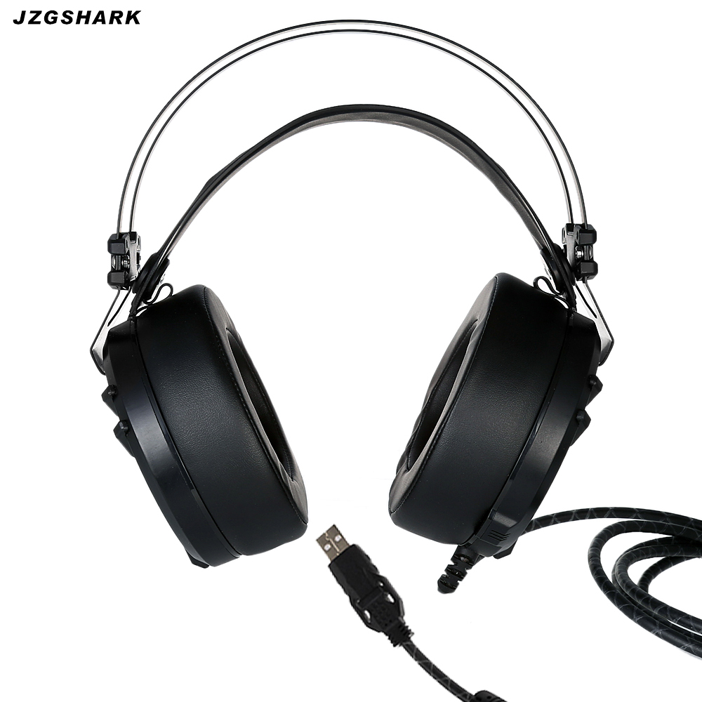 2017 Rushed Headset Headphones Pc Earphone Wired Dynamic Auriculares Gamer Earphones With Microphone Led Breathing Light New <br>