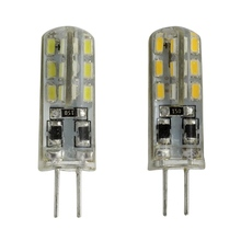 G4 Led  Dimmable Bulb Silicon Lamp Crystal Chandelier 12V DC 24 SMD 3014 White/Warm/Red/Green/Blue