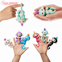 Multi-function Smart Fingerlings Interactive Baby Monkey Animal Fingers Llings Unicorn Induction Toys Christmas Birthday Gifts(China)