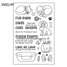 FUR BaBy DOGS Cats Lots of Love Scrapbook DIY photo cards rubber stamp clear stamp transparent stamp 10x15cm KW7091405(China)