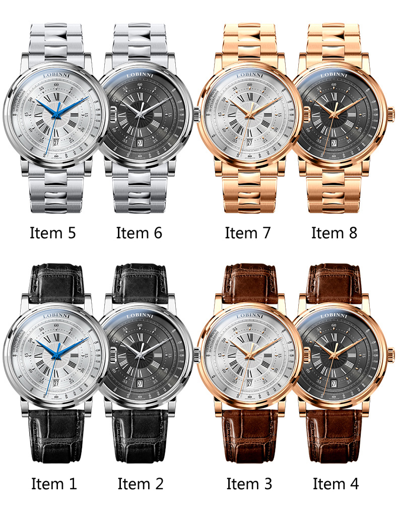 LOBINNI New Men Watches Top Luxury Brand Japan Import NH35A SII O Auto Mechanical MOVT Men's Clock Sapphire reloj hombre L1018-8 9