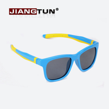 JIANGTUN TR90 Flexible Kids Sunglasses Polarized Child Safety Sun Glasses UV400 Eyewear Shades Infant oculos de sol