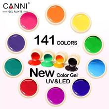 #50618 New 2017 CANNI Nail Art Tips Design Manicure141 Color UV LED Soak Off DIY Paint Color Gel Ink UV Gel Nail Polish Lacquer(China)