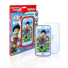 Russian language PATROL dog Figures Educational Learning Mobile Phone Kids Baby Toy with Song story kids Electronic Toys phone