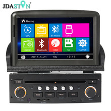 JDASTON 7Inch 1Din Car DVD Player For PEUGEOT 307 2008 2009 2010 2011 Auto Radio GPS Navigation Bluetooth Multimedia USB Map(China)