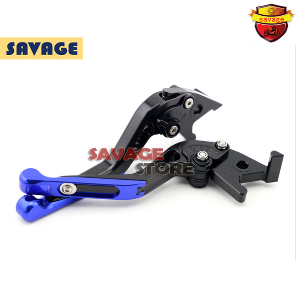 For SUZUKI Burgman 125 2014-2015 Blue Motorcycle Extending Brake Clutch Levers extendable CNC Aluminum<br>