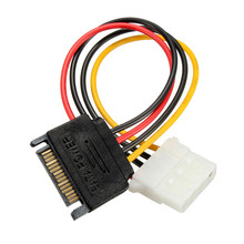 High Quality 15 Pin SATA Male to 4 Pin IDE ATA HDD Female Power Converter Cable 15CM Adaptor Connector