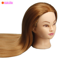 Hair Styling Doll Head Hairdressing Mannequin Training Head Hair Styling Mannequins Female Mannequin Wig Head 550G 24Inch Blonde