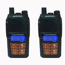 2pcs 10 KM hunting radios Communicator 7w powerful walkie talkies with 136-174MHz / 400-520MHz baofeng uv-6r professional handy(China)