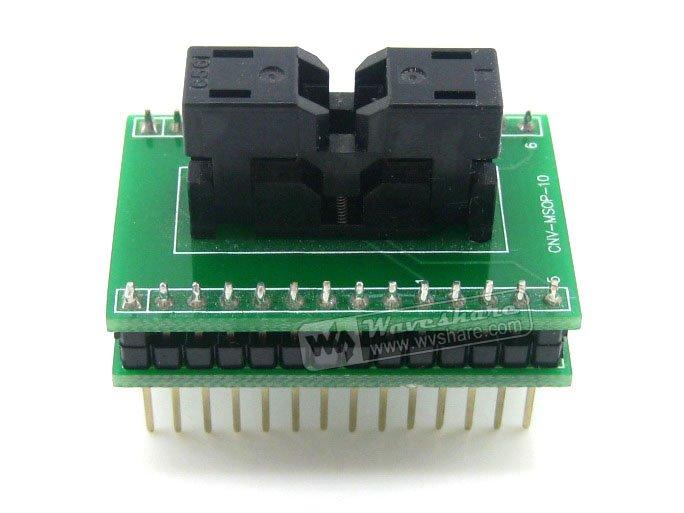 module MSOP10 TO DIP10 SSOP10 TSSOP10 Wells IC Test Socket Adapter 0.5mm Pitch<br>