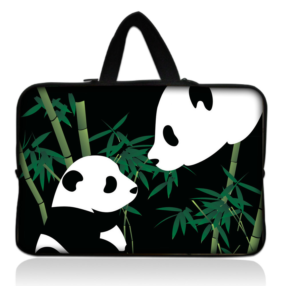Two Pandas 14 Soft Neoprene Laptop Sleeve Case Bag Cover+Hide Handle For Toshiba Satellite,Lenovo ThinkPad<br><br>Aliexpress