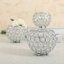 Gold/Silver Crystal Tea Light Candle Lantern/Candle Holders Mumluk for Wedding Home Decoration(China)