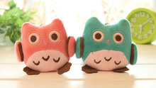 7CM 3Colors. NEW OWL Stuffed Animal toy doll ; Plush Sucker Pendant Charm Toy Decor Plush Gift Toys